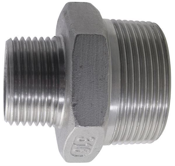 NPT Reducing Nipple 150LB 316 Stainless Steel
