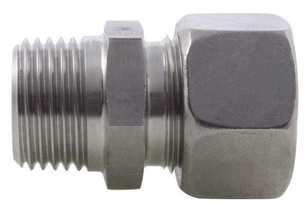 Male Stud Coupling NPT Single Ferrule 316 Stainless Steel