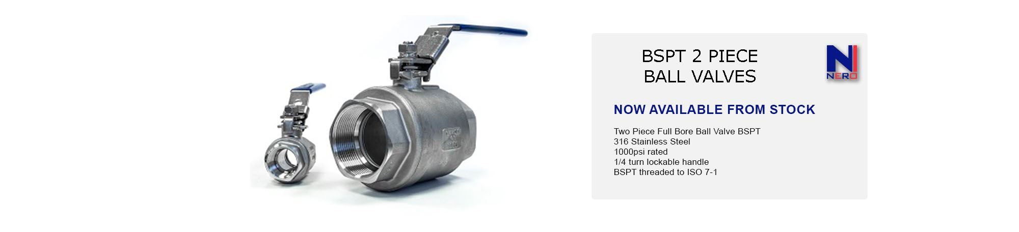 Two Piece Full Bore Ball Valve BSPT
