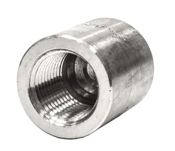 BSPT Round Cap 3000LB 316 Stainless Steel