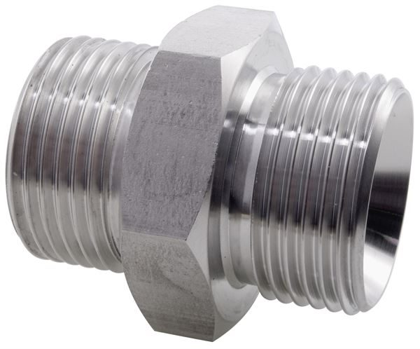 Hydraulic Hexagon Nipple BSPP 316 Stainless Steel