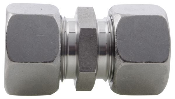 Straight Coupling Single Ferrule Compression 316 Stainless Steel