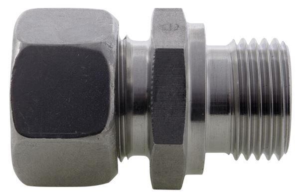 Male Stud Coupling BSPP Single Ferrule 316 Stainless Steel