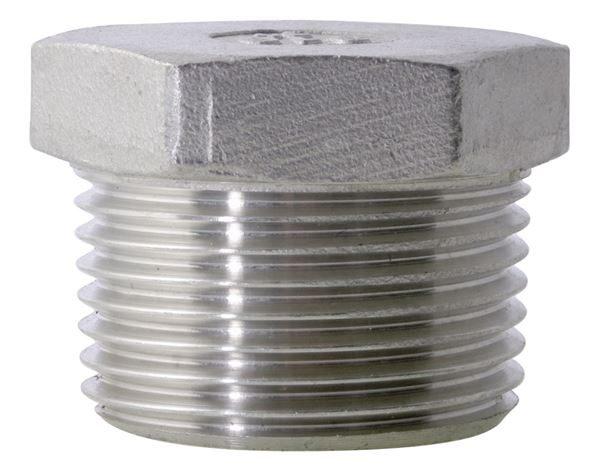 NPT Hexagon Plug 150LB 316 Stainless Steel
