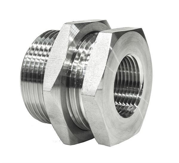 Female Hydraulic Bulkhead BSPP 316 Stainless Steel