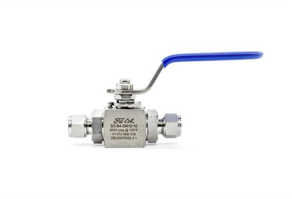 Compression Ended Reduced Bore Ball Valve 6,000 PSI 316 Stainless Steel