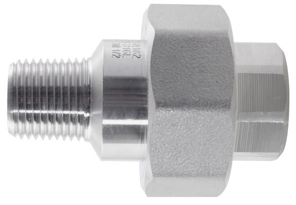 NPT Conical Seat Union Male/Female 3000LB 316 Stainless Steel
