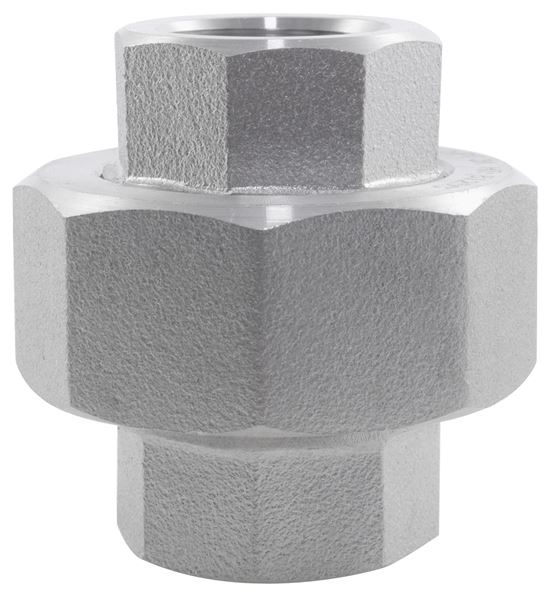 BSPT Conical Seat Union 3000LB 316 Stainless Steel