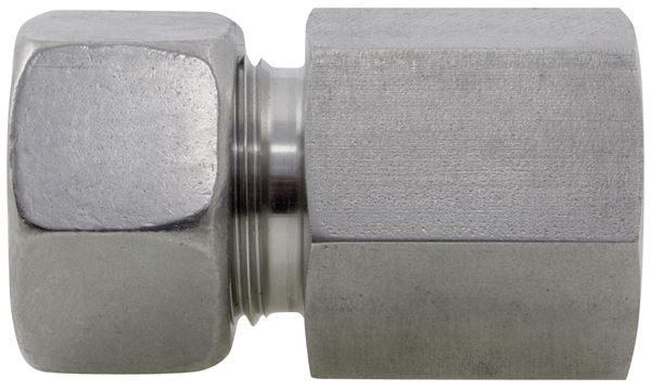 Female Stud Coupling BSPP Single Ferrule 316 Stainless Steel