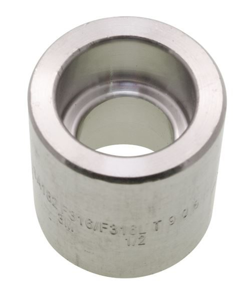 Socket Weld (SW) Reducing Coupling 3000LB 316 Stainless Steel