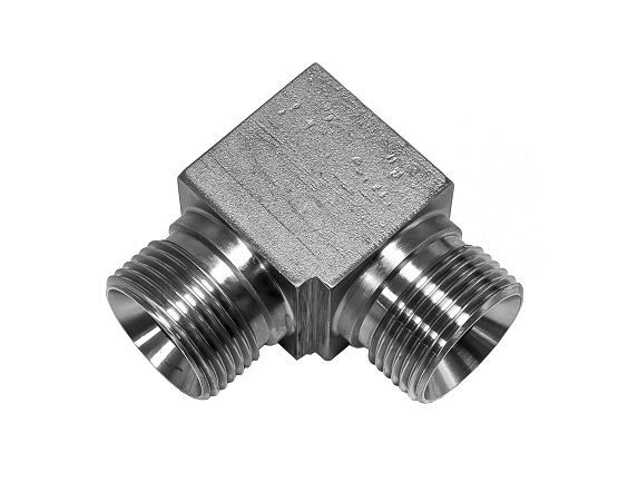 Hydraulic BSPP Cone Seat Male X Male 90deg Elbow 316 Stainless Steel