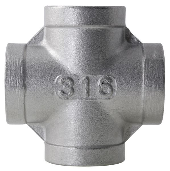 BSPP-Threaded-Equal-Cross-150psi-316-Stainless-Steel-Fitting