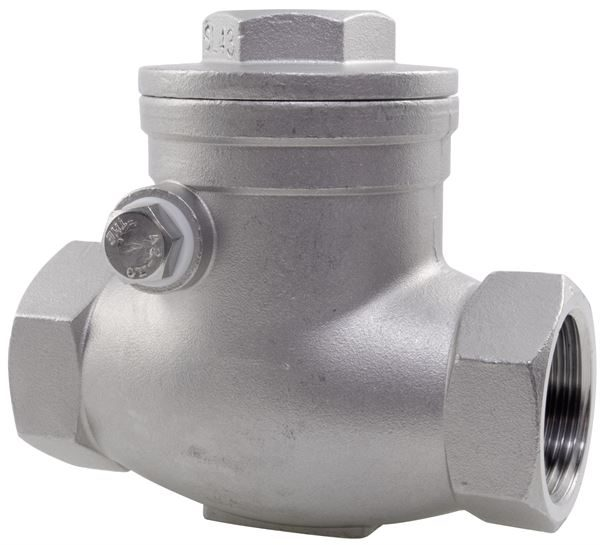 Swing Check Valve BSPP 316 Stainless Steel
