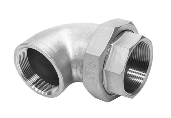 BSP-Threaded-Elbow-Union-Cone-Seat-150LB-316-Stainless-Steel