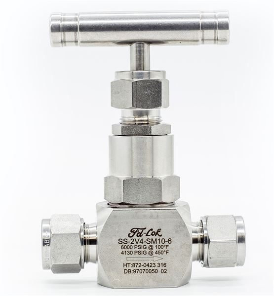 Compression Ended Needle Valve 6,000psi 316 Stainless Steel