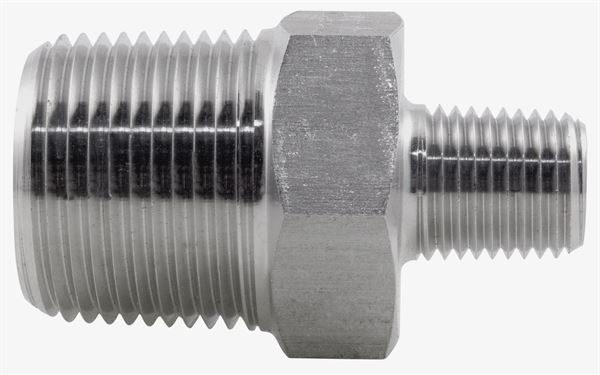 NPT Reducing Nipple 3000LB 316 Stainless Steel