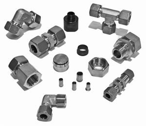 Single-Ferrule-Compression-Fittings-(Light-Series-To-800-BAR)