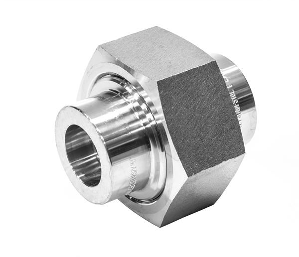 Socket Weld (SW) Union Conical Seat 6000LB 316 Stainless Steel